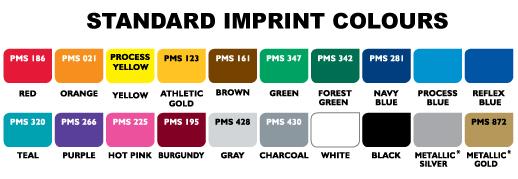 Standard Imprint Colours