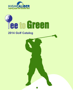 2013 Golf Catalogue